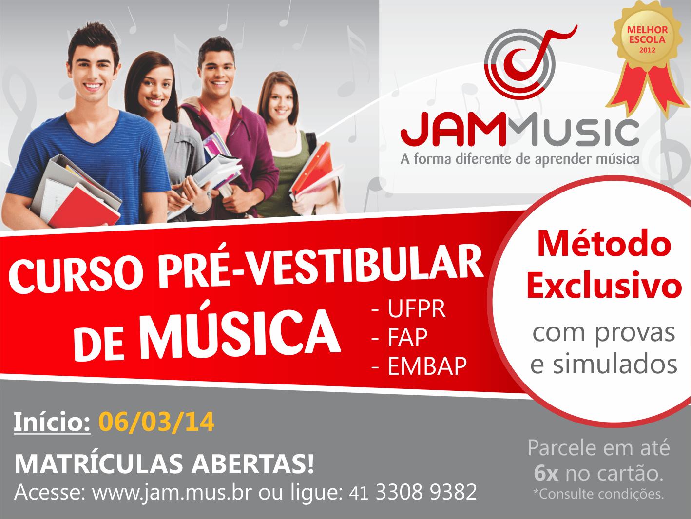 Curso Pré-Vestibular JAM Music Curitiba