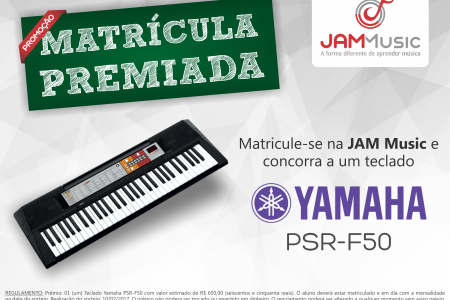 Promoção Matrícula Premiada – Yamaha...