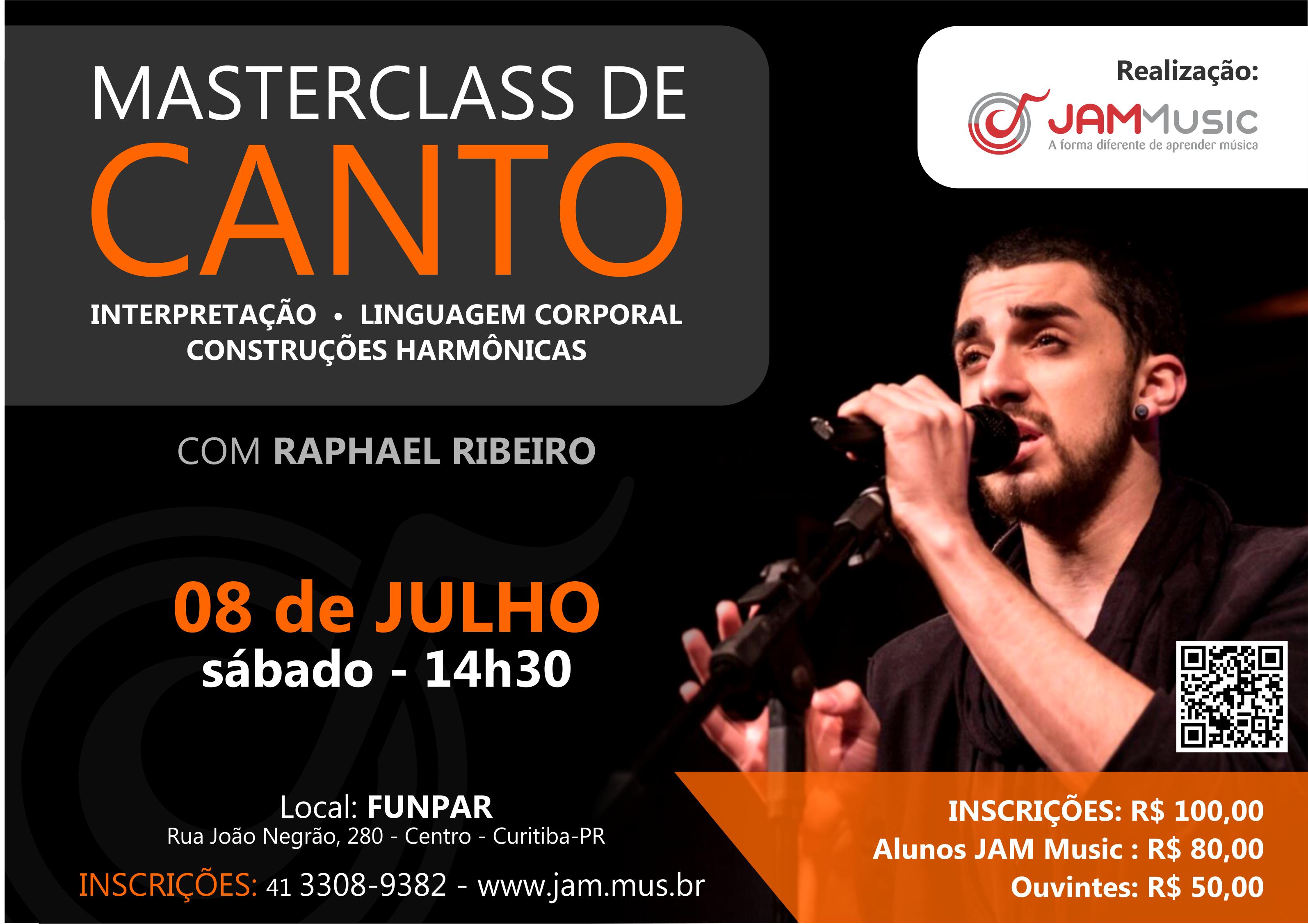 Masterclass Canto - Raphael Ribeiro - JAM Music